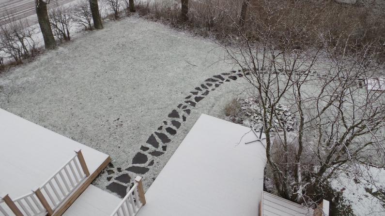 Saunapolku talvella