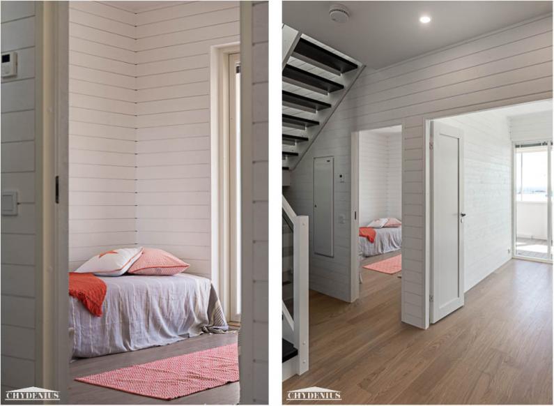 Horisontti näkyy myös alakerran makuuhuoneista