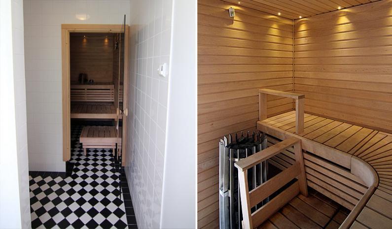 Mustavalkoisuus jatkuu saunassa